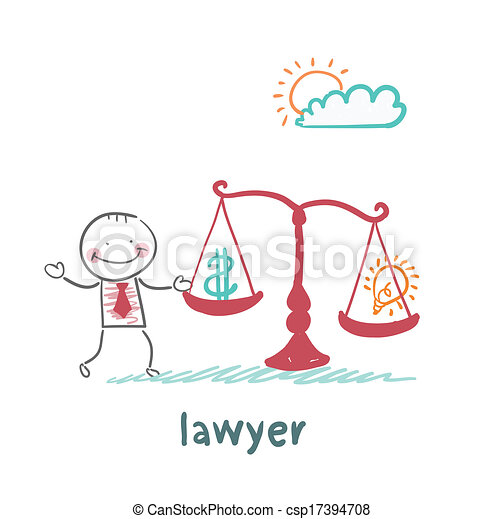 attorney weighs in the balance money and the idea of - csp17394708