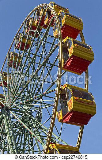 Attraction Ferris wheel. - csp22746815