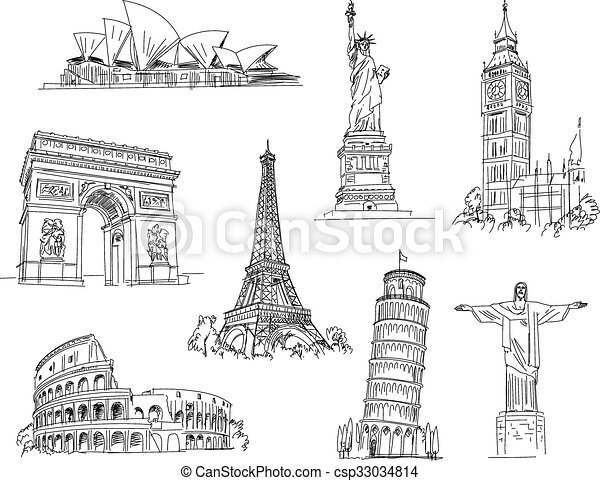 Attractions of the world - csp33034814