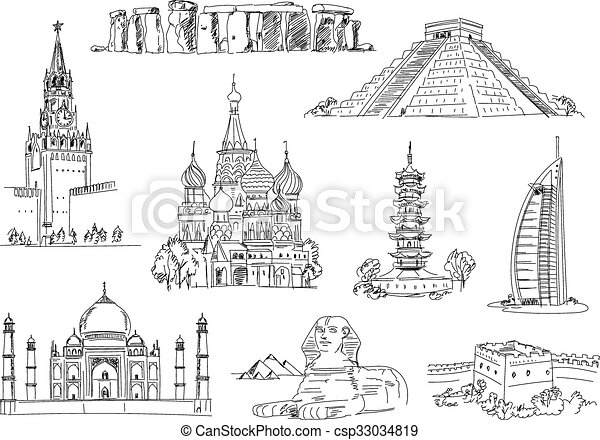 Attractions of the world - csp33034819