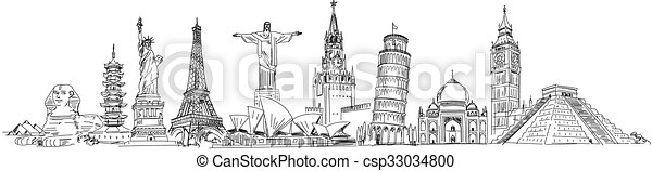Attractions of the world - csp33034800