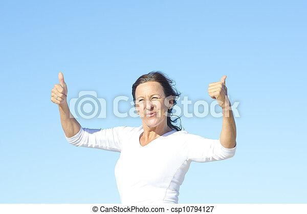 Attractive active senior woman - csp10794127