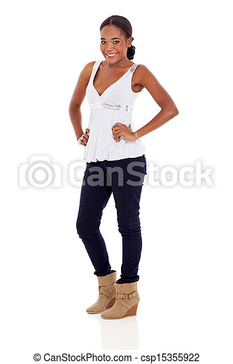 attractive African American woman - csp15355922
