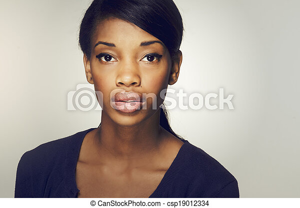 Attractive African American woman - csp19012334