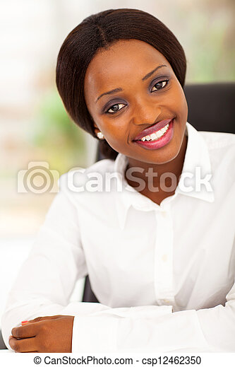 attractive african office worker  - csp12462350
