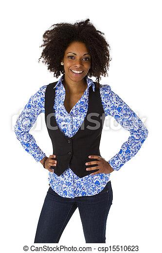 Attractive african woman - csp15510623