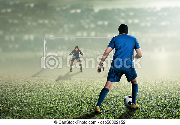Attractive asian soccer player on the match - csp56822152
