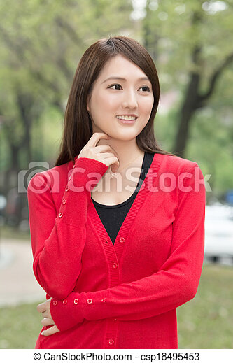 Attractive Asian young woman - csp18495453