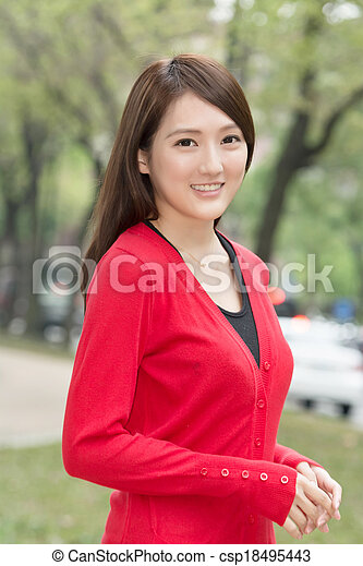 Attractive Asian young woman - csp18495443