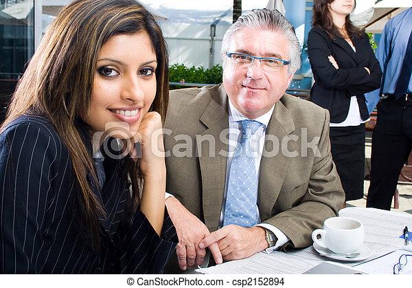 attractive business team - csp2152894