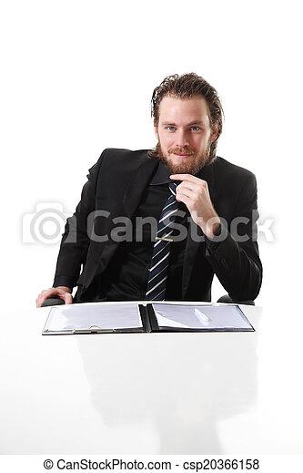 Attractive businessman - csp20366158