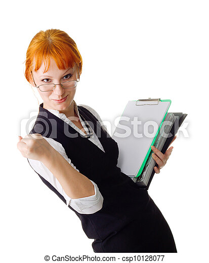 Attractive businesswoman - csp10128077
