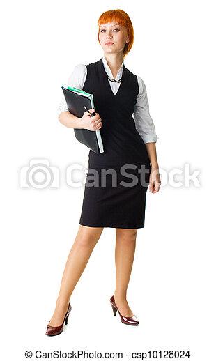 Attractive businesswoman - csp10128024