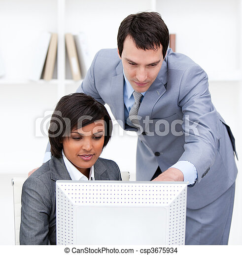 Attractive businesswoman - csp3675934
