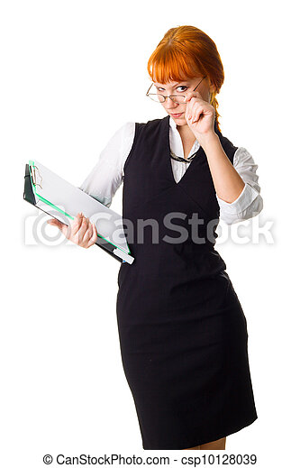Attractive businesswoman - csp10128039