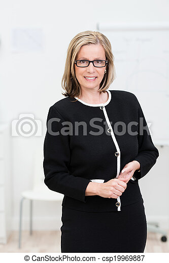 Attractive businesswoman wearing glasses - csp19969887