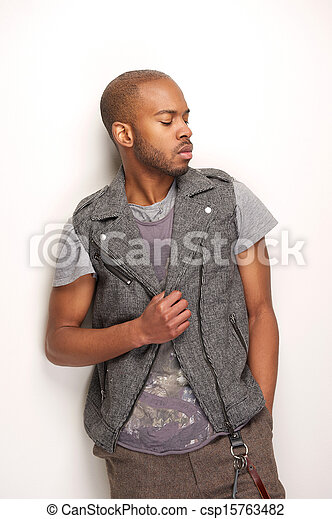 Attractive male fashion model - csp15763482