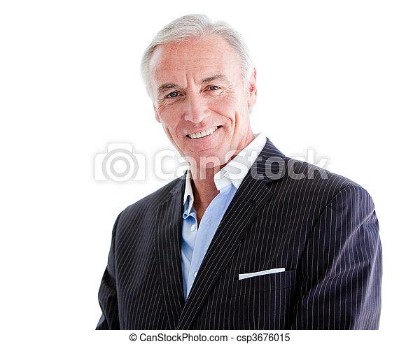 Attractive mature businessman - csp3676015