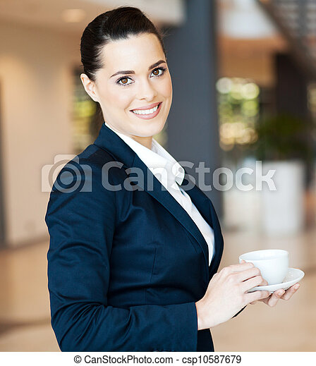 attractive modern businesswoman - csp10587679