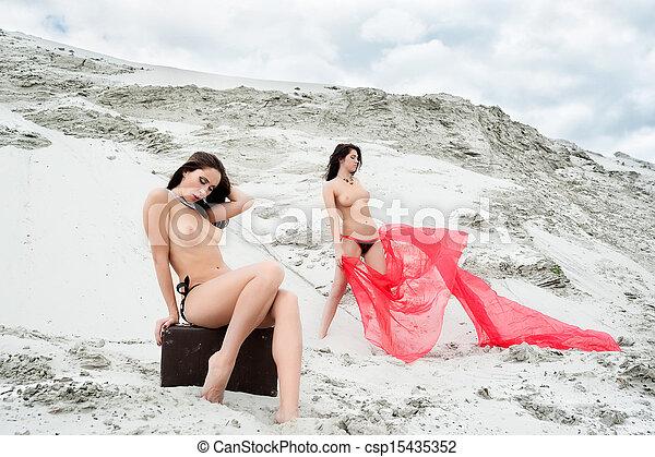 Naked girls in sand-3675