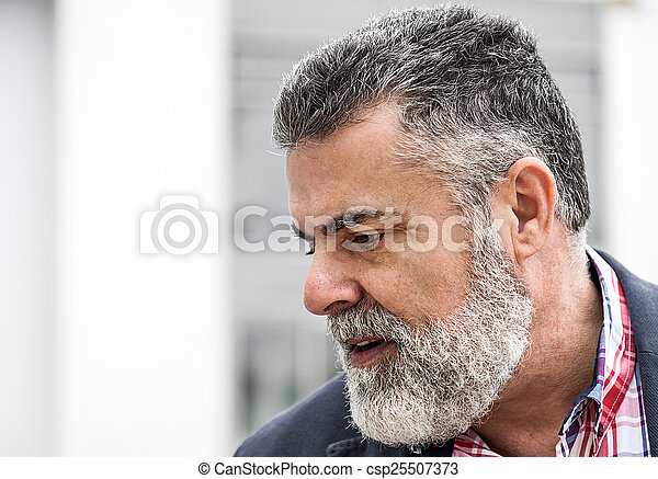 Attractive old man with beard  - csp25507373