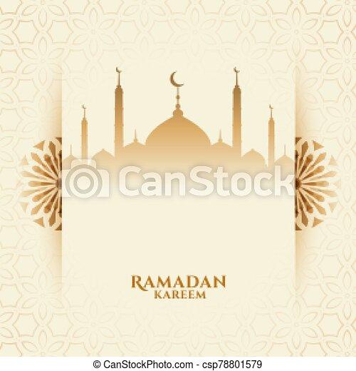 attractive ramadan kareem festival background with mosque - csp78801579