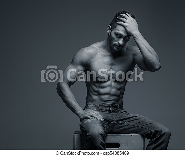 41777a7a Attractive shirtless guy in blue jeans. Shirtless attractive ...