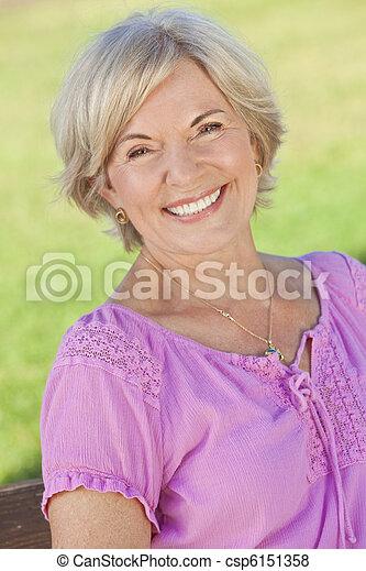 Attractive Smiling Senior Woman  - csp6151358