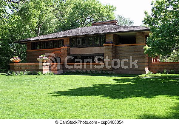 Attractive suburban home - csp6408054