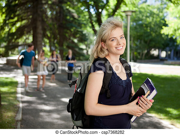 Attractive University Student - csp7368282
