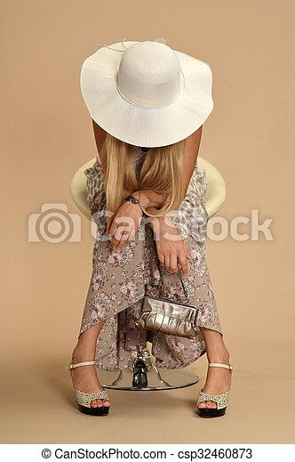 Attractive woman in dress - csp32460873