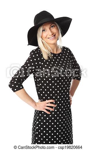 Attractive woman in dress - csp19820664