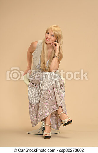 Attractive woman in dress - csp32278602