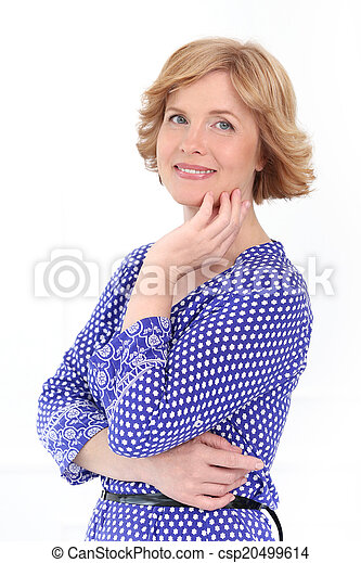 Attractive woman in middle age - csp20499614