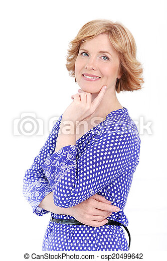 Attractive woman in middle age - csp20499642