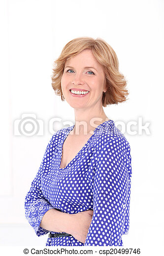 Attractive woman in middle age - csp20499746