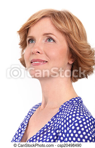 Attractive woman in middle age - csp20498490