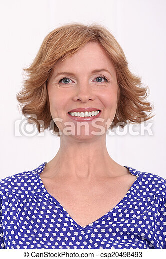Attractive woman in middle age - csp20498493