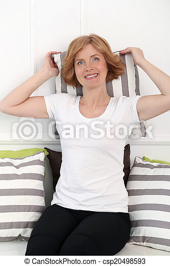 Attractive woman in middle age - csp20498593