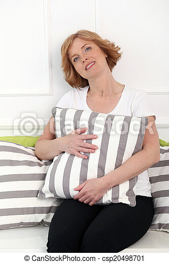 Attractive woman in middle age - csp20498701