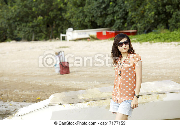 Attractive young Asian woman - csp17177153