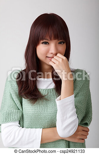 Attractive young asian woman - csp24921133
