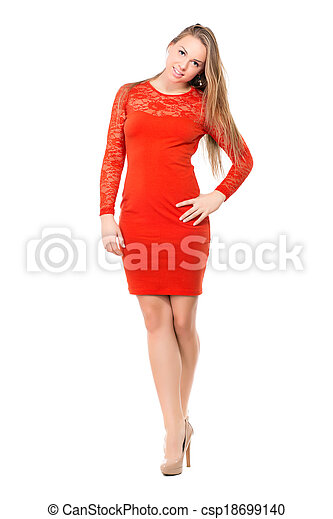 Attractive young blond woman - csp18699140