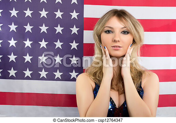 Attractive young blonde - csp12764347