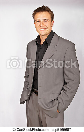 Attractive young man in suit - csp5165687
