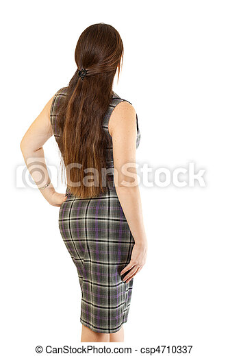 Attractive Young Woman in Dress - csp4710337