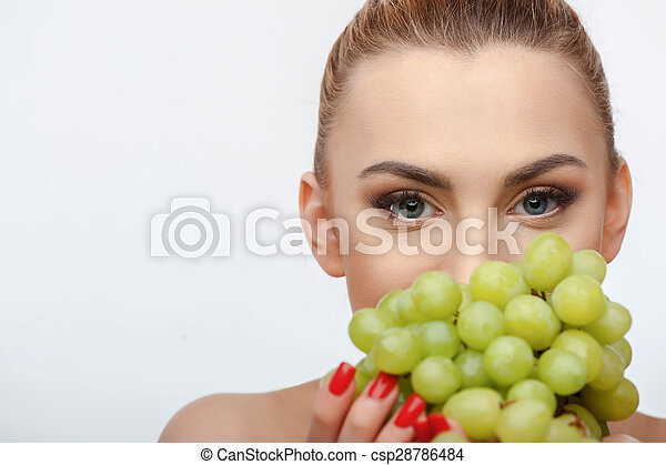 Attractive Young Woman Is Holding Green Healthy Food