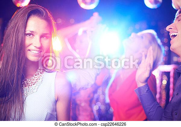 attraktive, partygoer - csp22646226