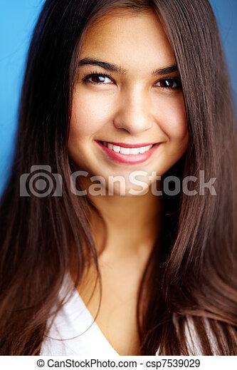 attraktive, teenager - csp7539029