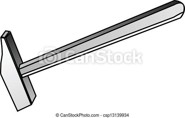 attrezzo, costruzione, martello, - - csp13139934